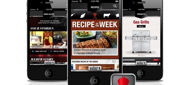 Weber's On The Grill App for Android, iPhone and iPad