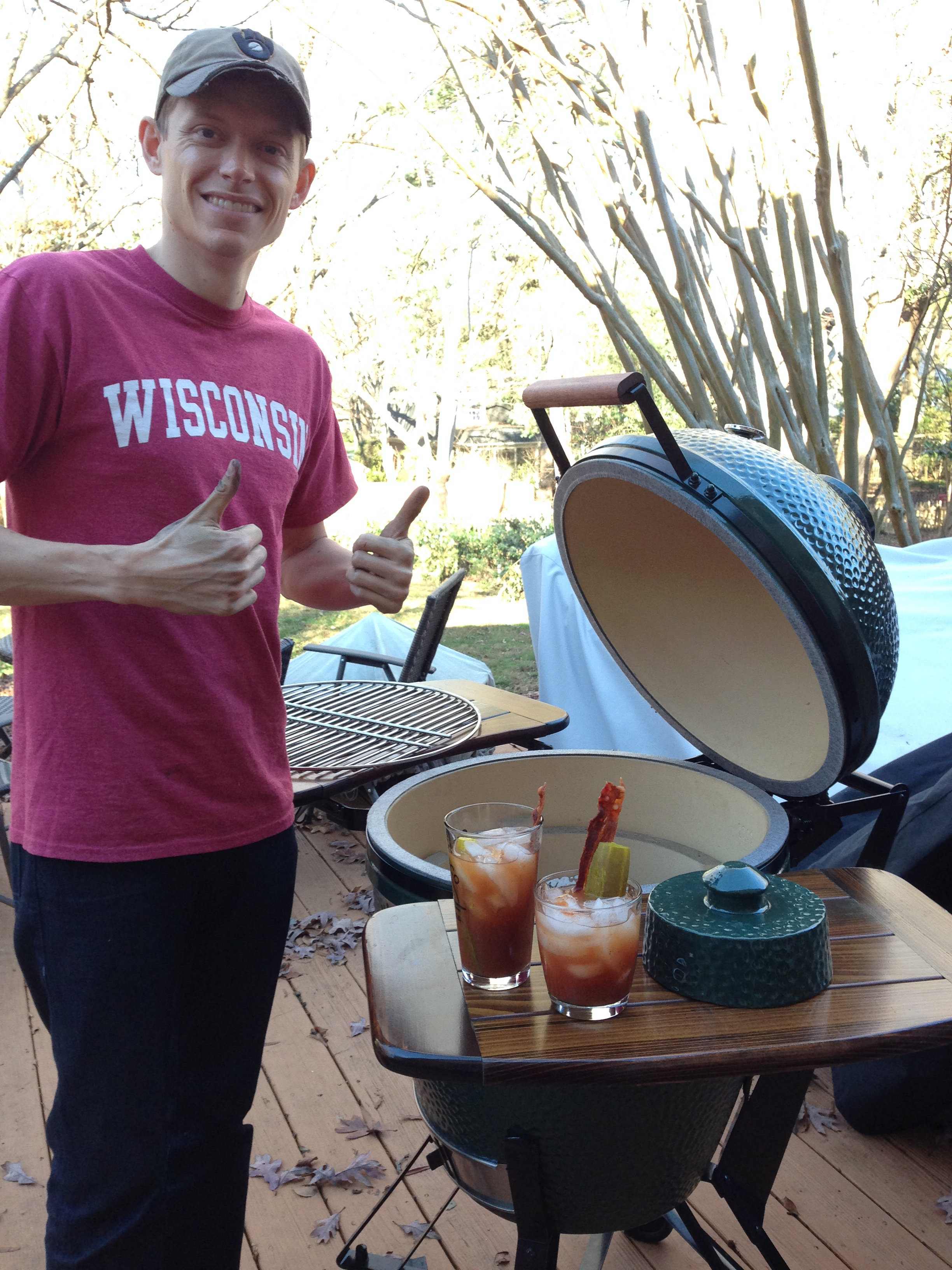 Big Green Egg and Bloody Mary - The perfect combination