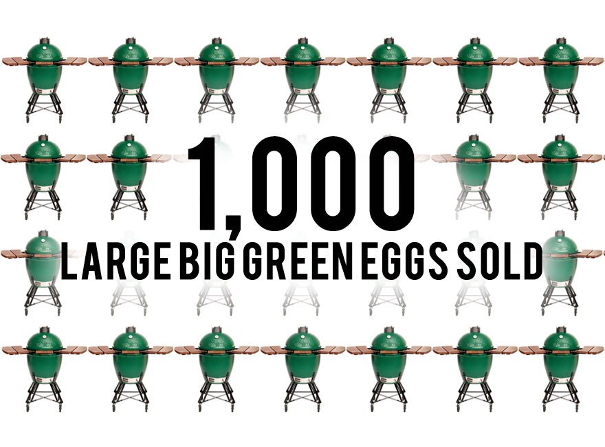 Blackhawk just sold its 1000th large Big Green Egg