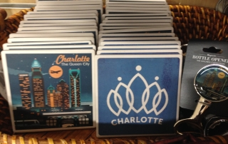 Charlotte NC themed coasters and other swag can be found at Blackhawk Hardware