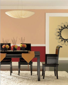 Fall-inspired dining room paint colors by Benjamin Moore