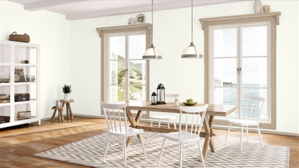 2016 Benjamin Moore Paint Color of The Year Blackhawk  : simply white dining room from blackhawkhardware.com size 975 x 549 png 694kB