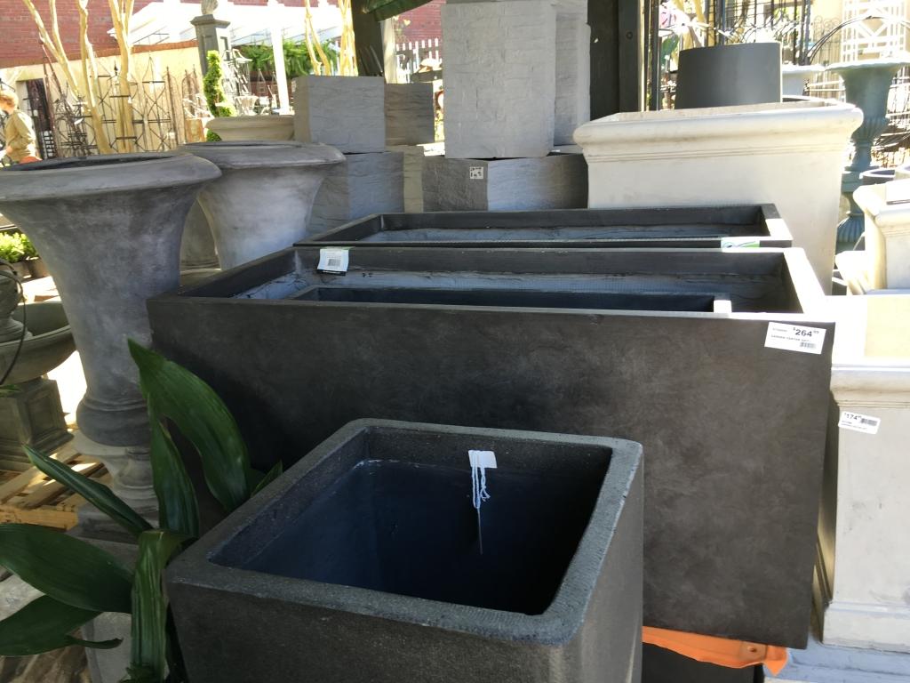 Modern, large rectangular planter from Blackhawk Hardware