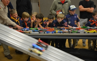 Blackhawk Hardware has a large supply of Pinewood Derby Car kits, tools and swag!