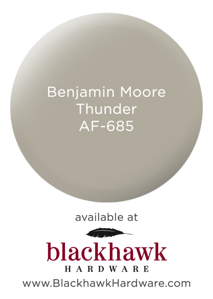 Benjamin Moore Thunder - one of the most versatile interior paint colors