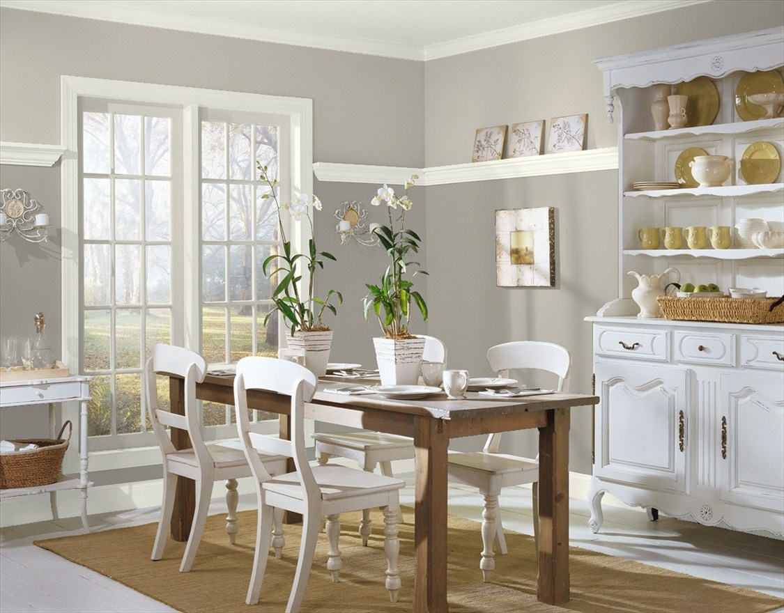 Thunder By Benjamin Moore Looks Great In Any Room, Including Dining Rooms!