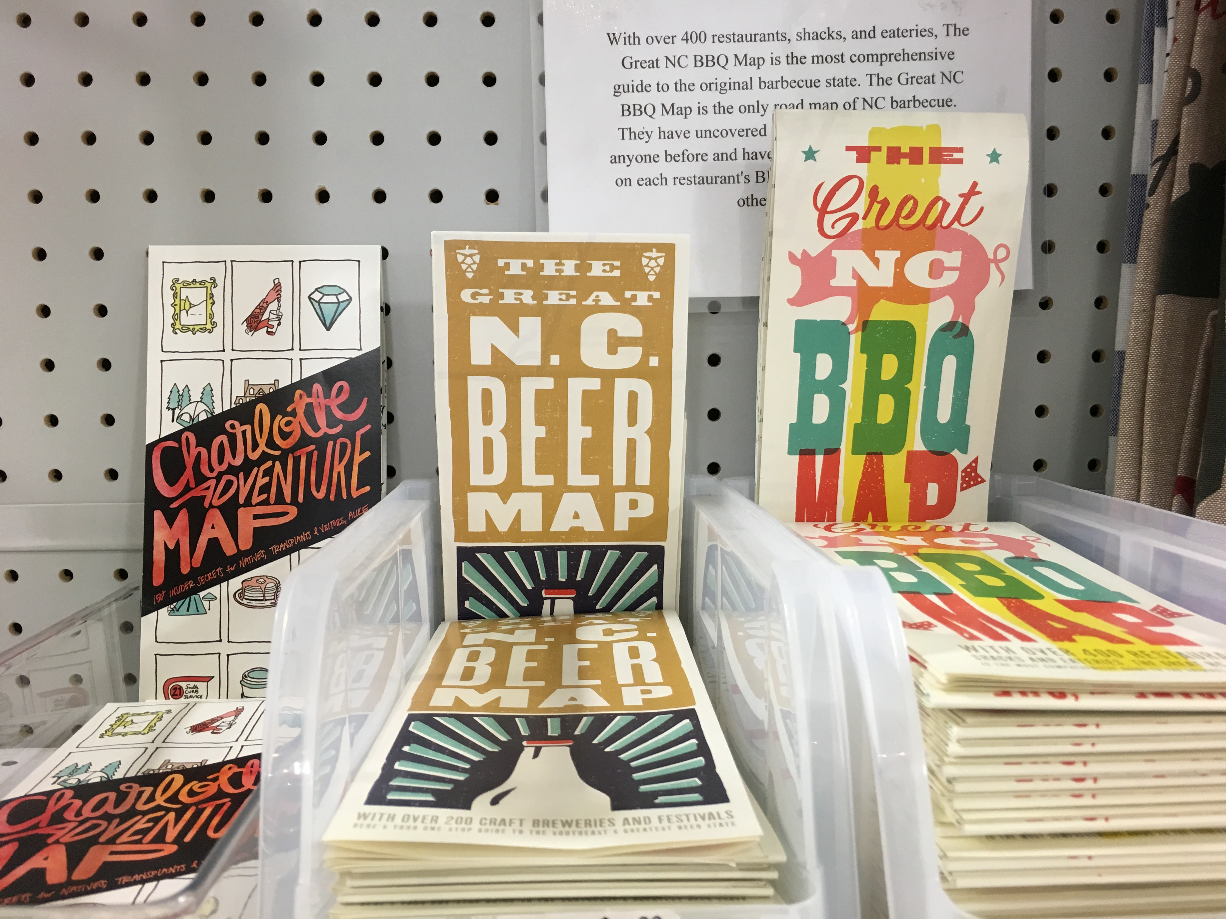 NC beer and adventure maps can be bought at Blackhawk Hardware in Charlotte, NC