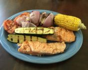Grilled Salmon and Vegetables Recipe for The Big Green Egg