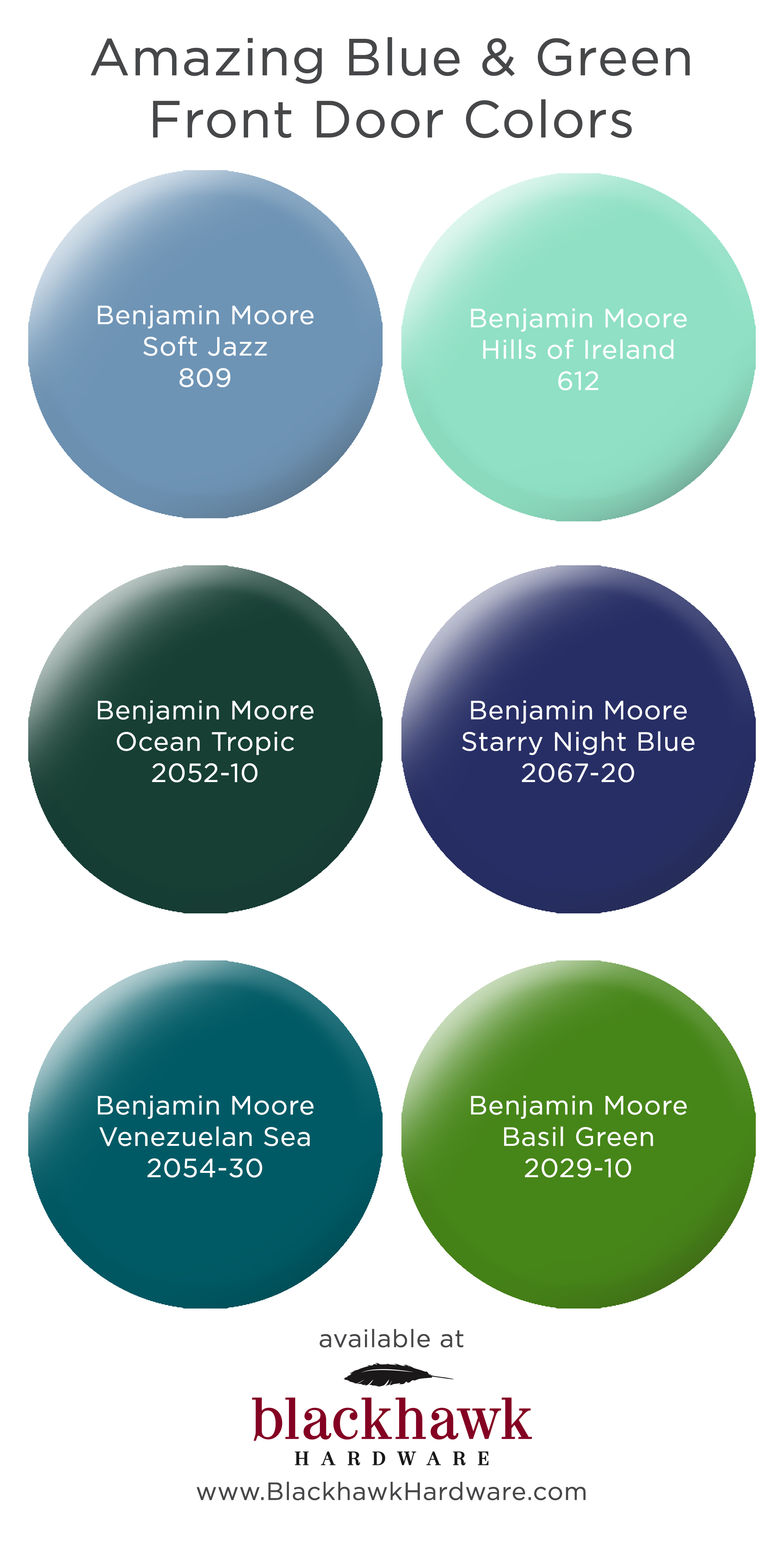 Six Great Blue And Green Door Paint Colors
