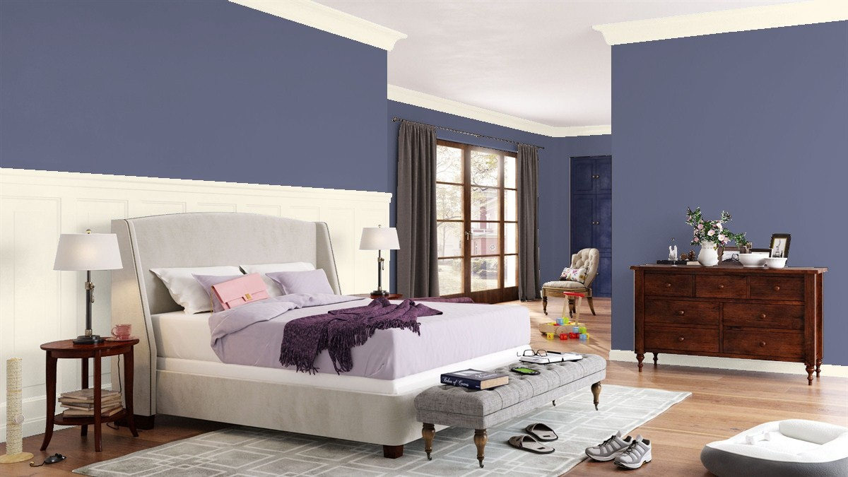 Keep things fresh in the bedroom with these benjamin moore for Bedroom paint colors 2017