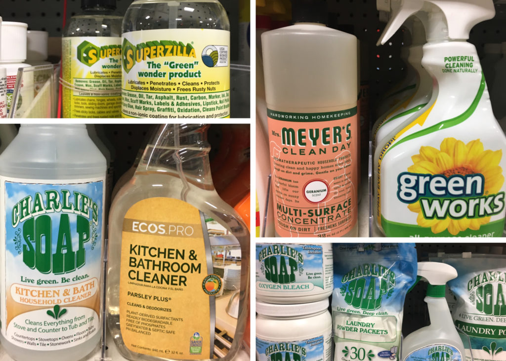 A great place to find green cleaning products in Charlotte: Blackhawk Hardware!