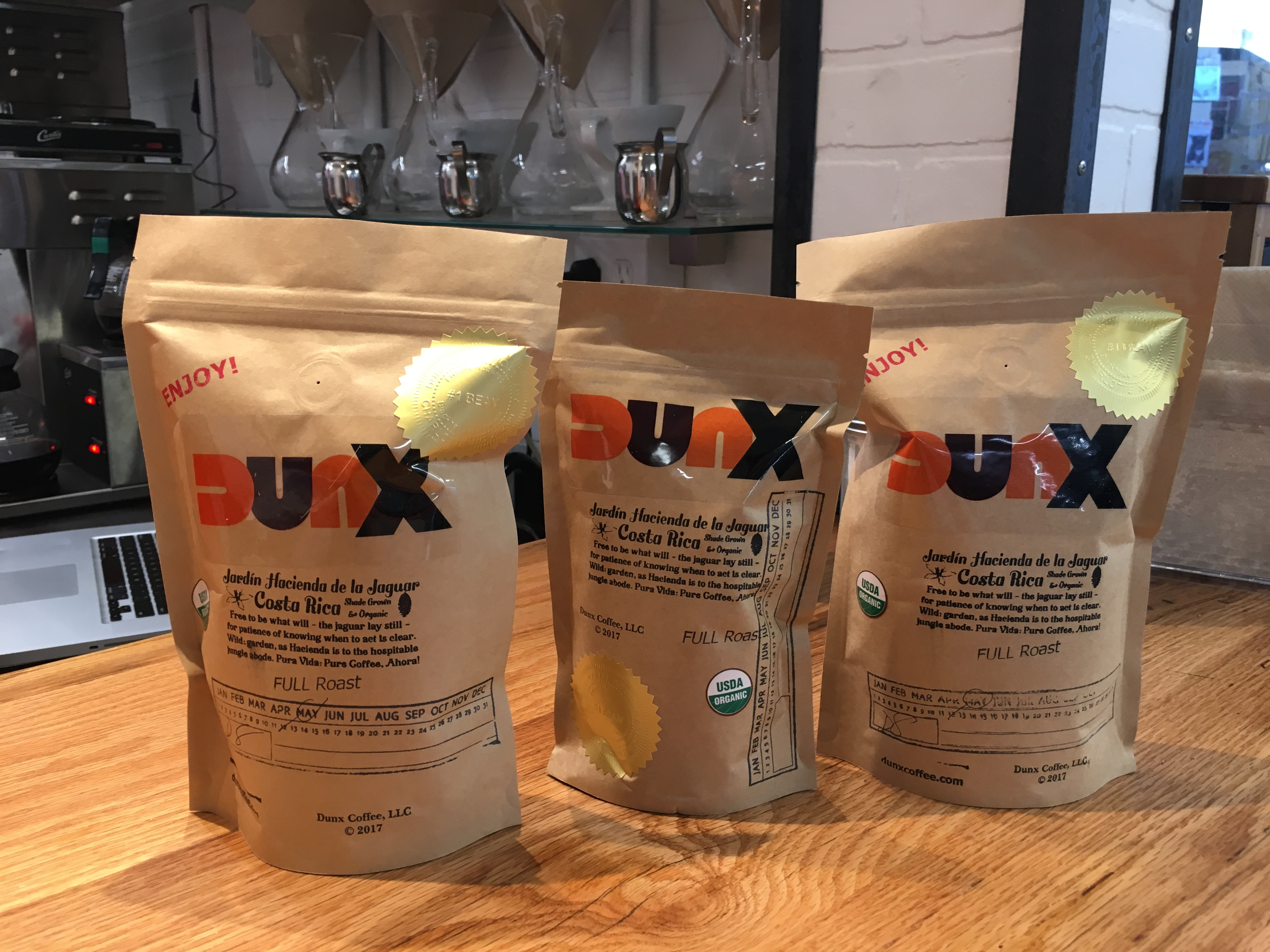 Grab a bag of DUNX beans for home brewing.
