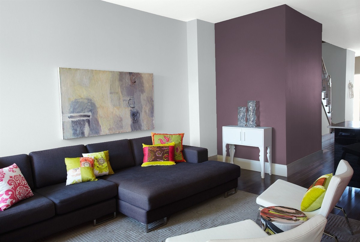 Benjamin Moore's Eternity is the perfect companion to your dream accent wall.