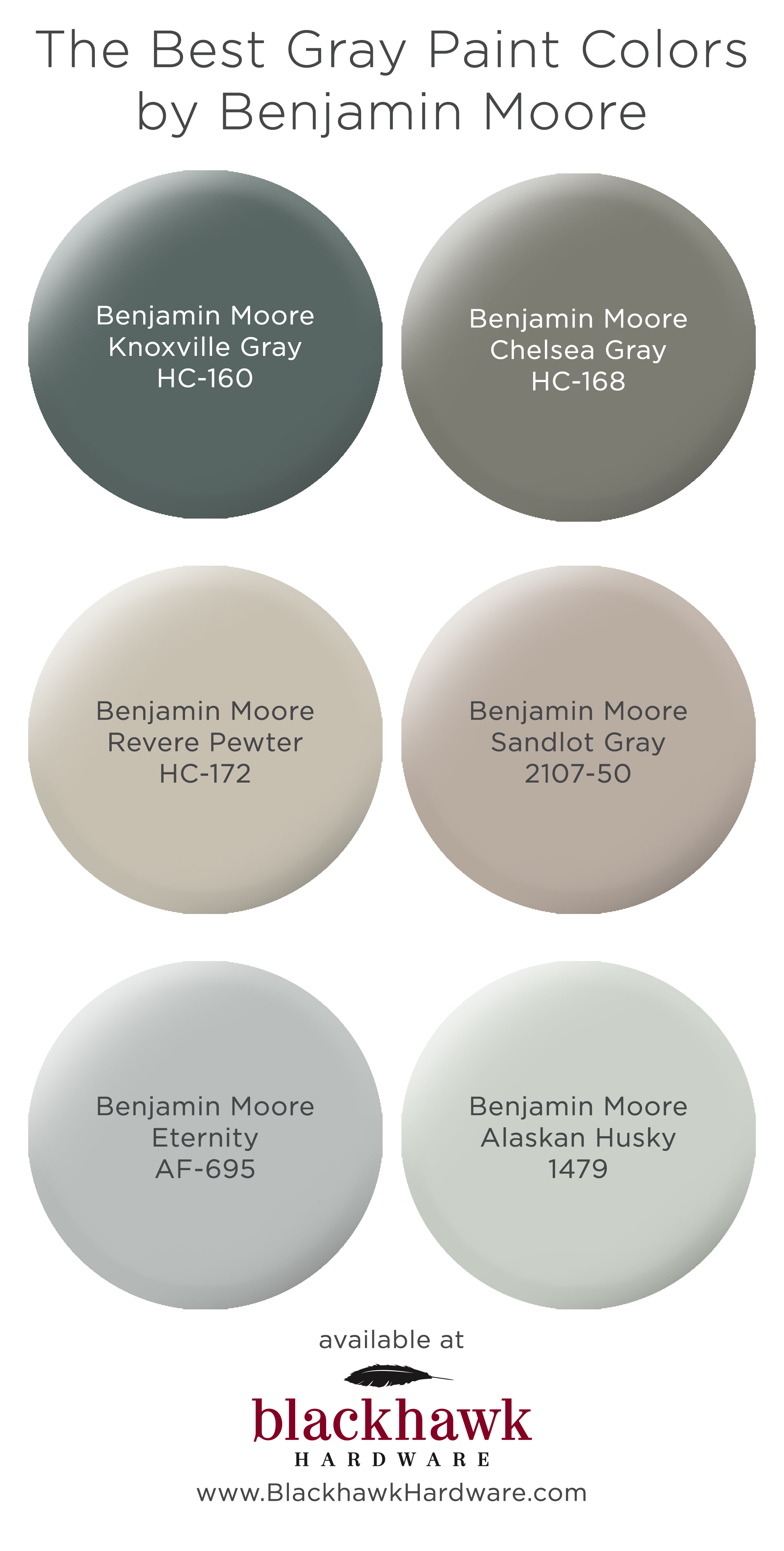 We Re In Love With These Best Six Gray Paint Colors By Benjamin Moore