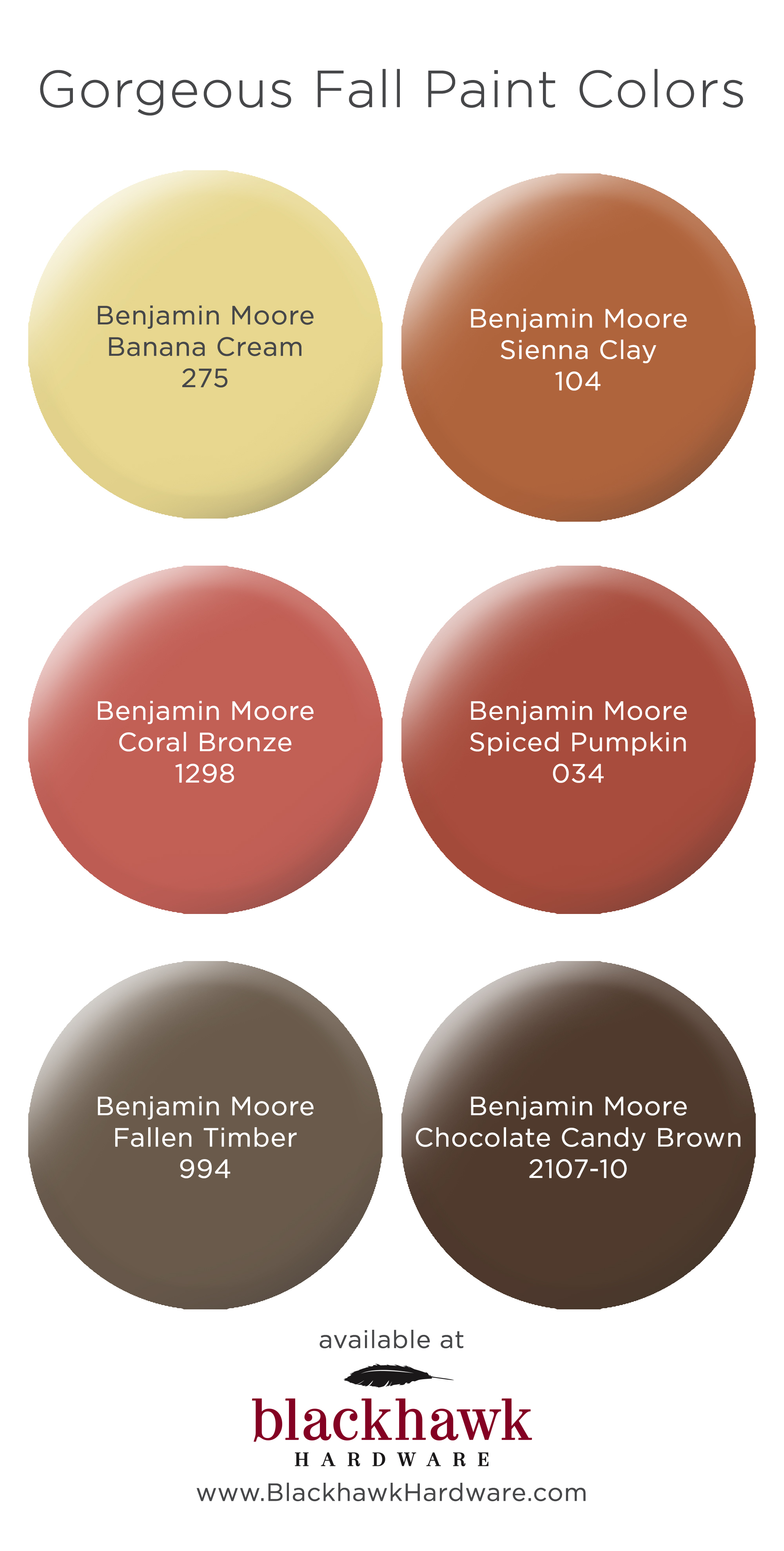 Fall inspired paint colors by benjamin moore blackhawk Great paint colors