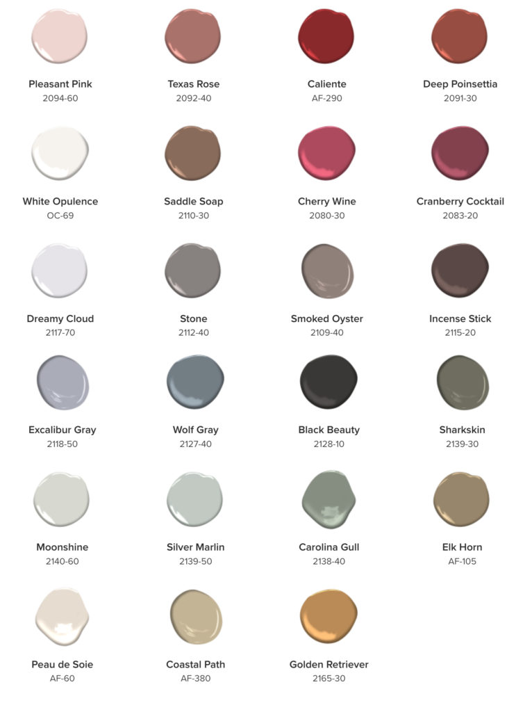 The 2018 Benjamin Moore Color Trend Paint Collection