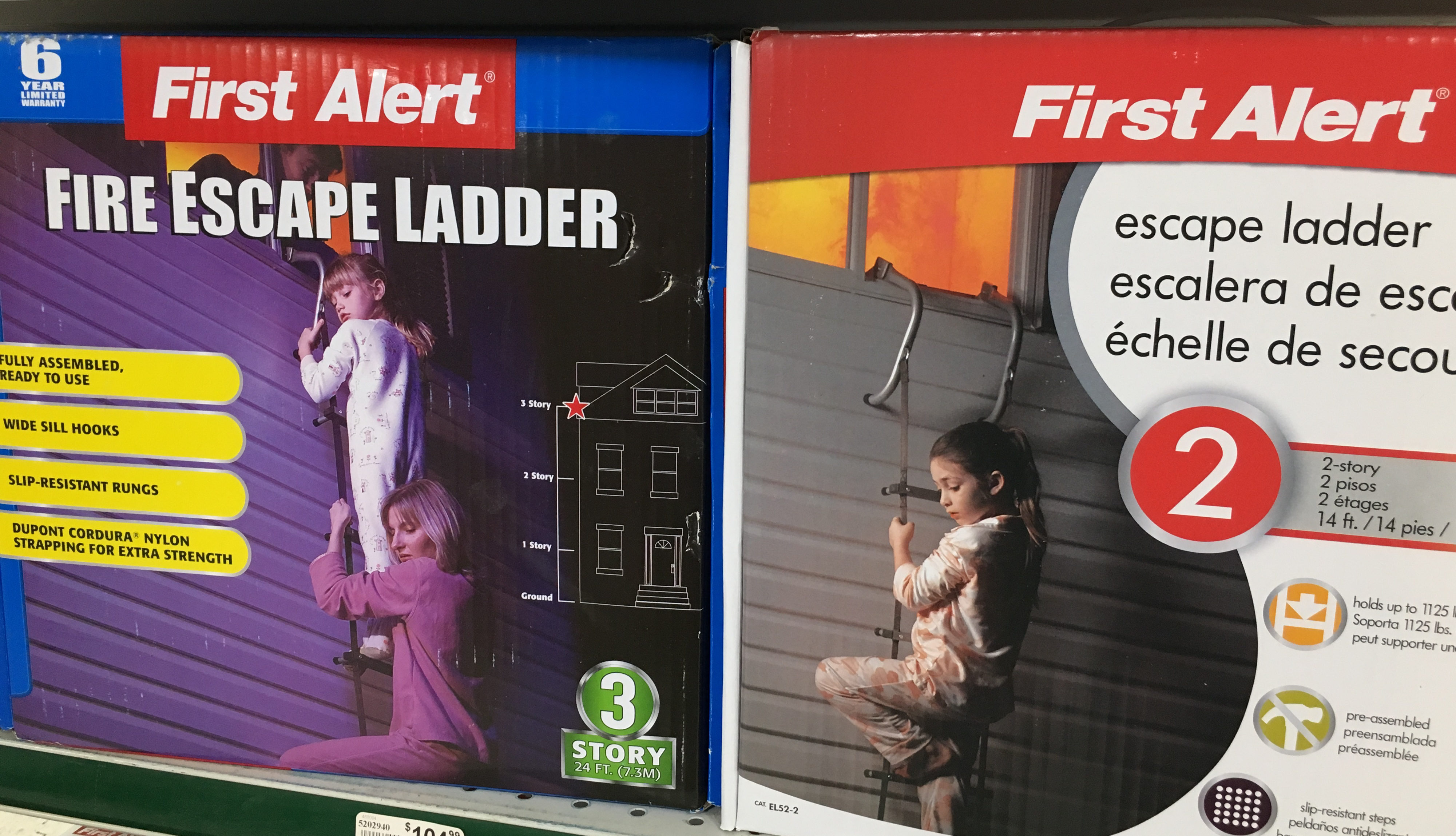 Fire escape ladders can save your family's lives if fire and smoke block the path to your lower level.