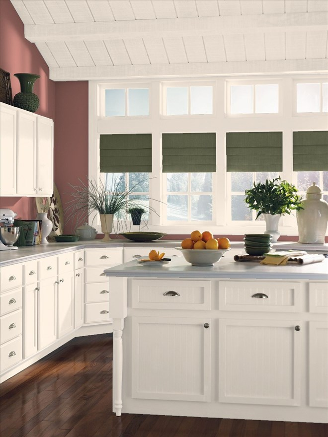 Gorgeous Kitchen Painted In Benjamin Moore S Texas Rose And Peau De Soie
