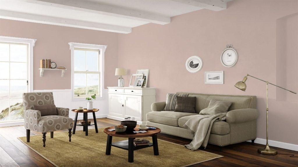Benjamin Moore Driftscape Tan Living Room