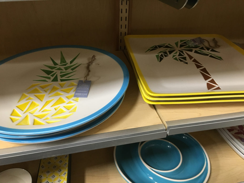 Tropical serving ware