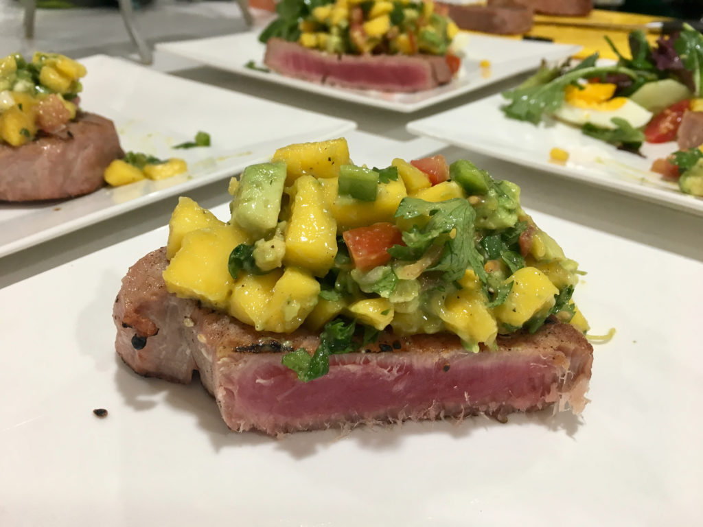 Healthy Ahi Tuna seared on the Big Green Egg