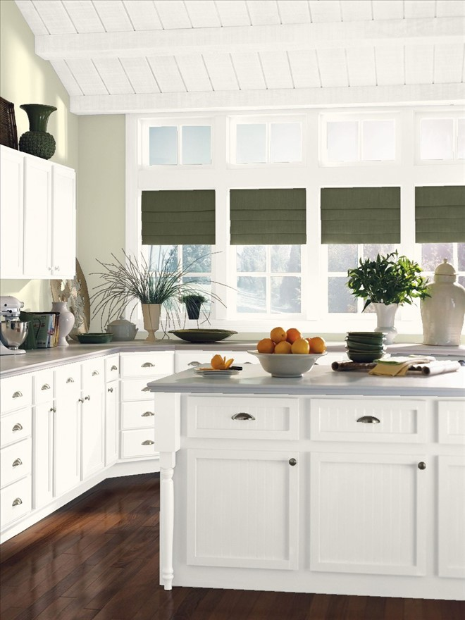 Kitchen painted in Benjamin Moore Limecicle