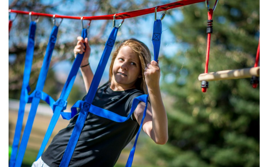 Ninja Net attaches to your Ninja Line to add an extra climbing challenge to your outdoor play area!