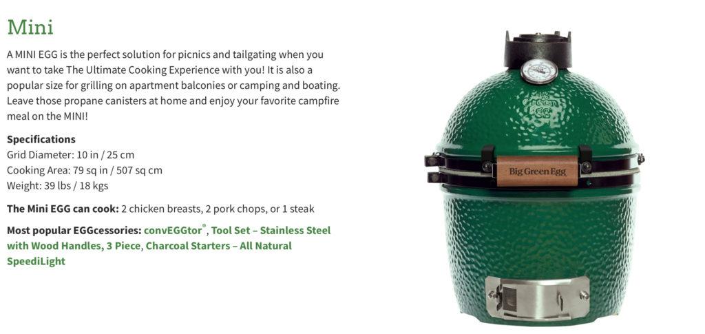 The Big Green Egg Mini is the perfect tailgate companion!