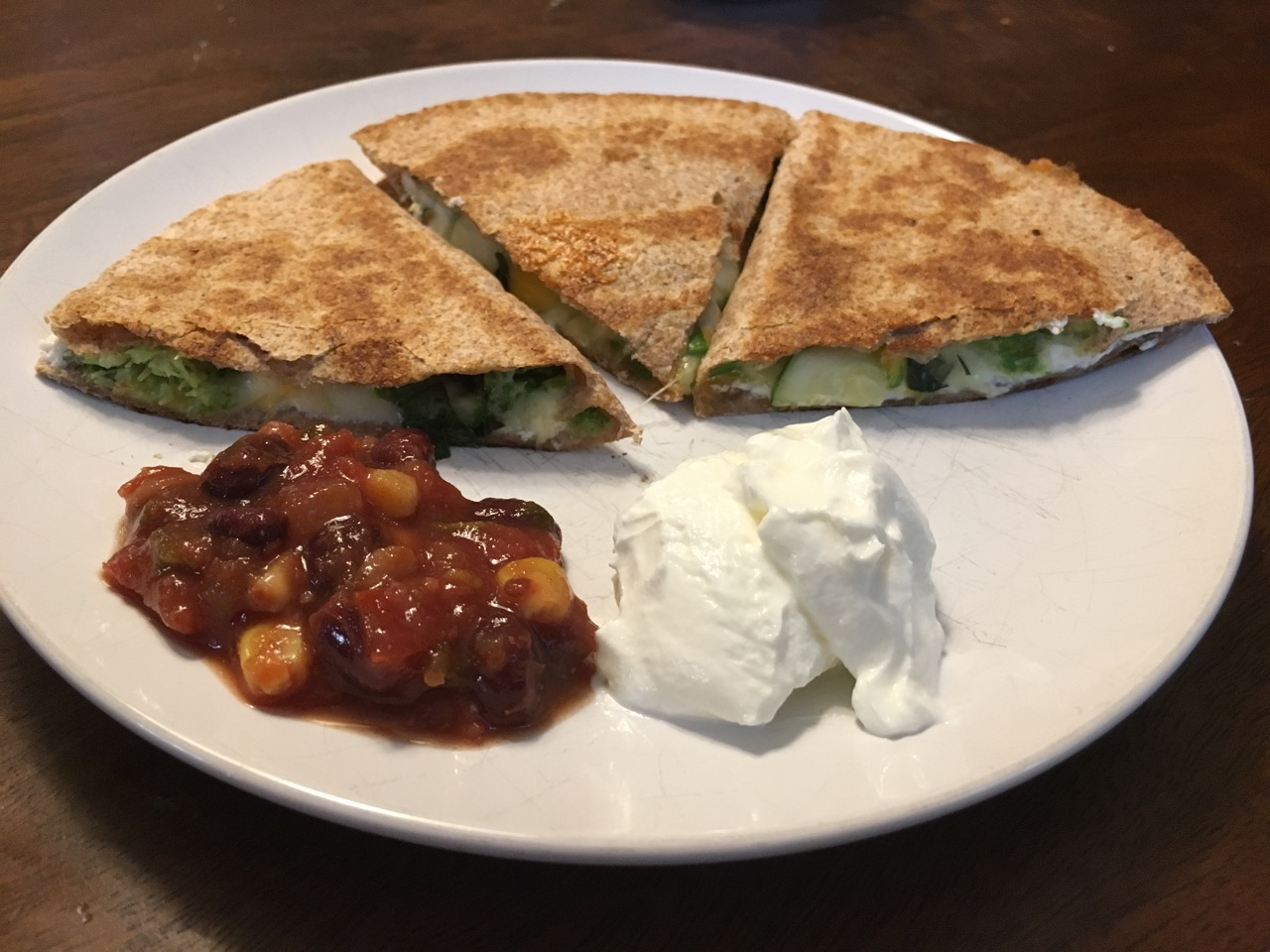 Grilled Vegetable Quesadilla from the Big Green Egg
