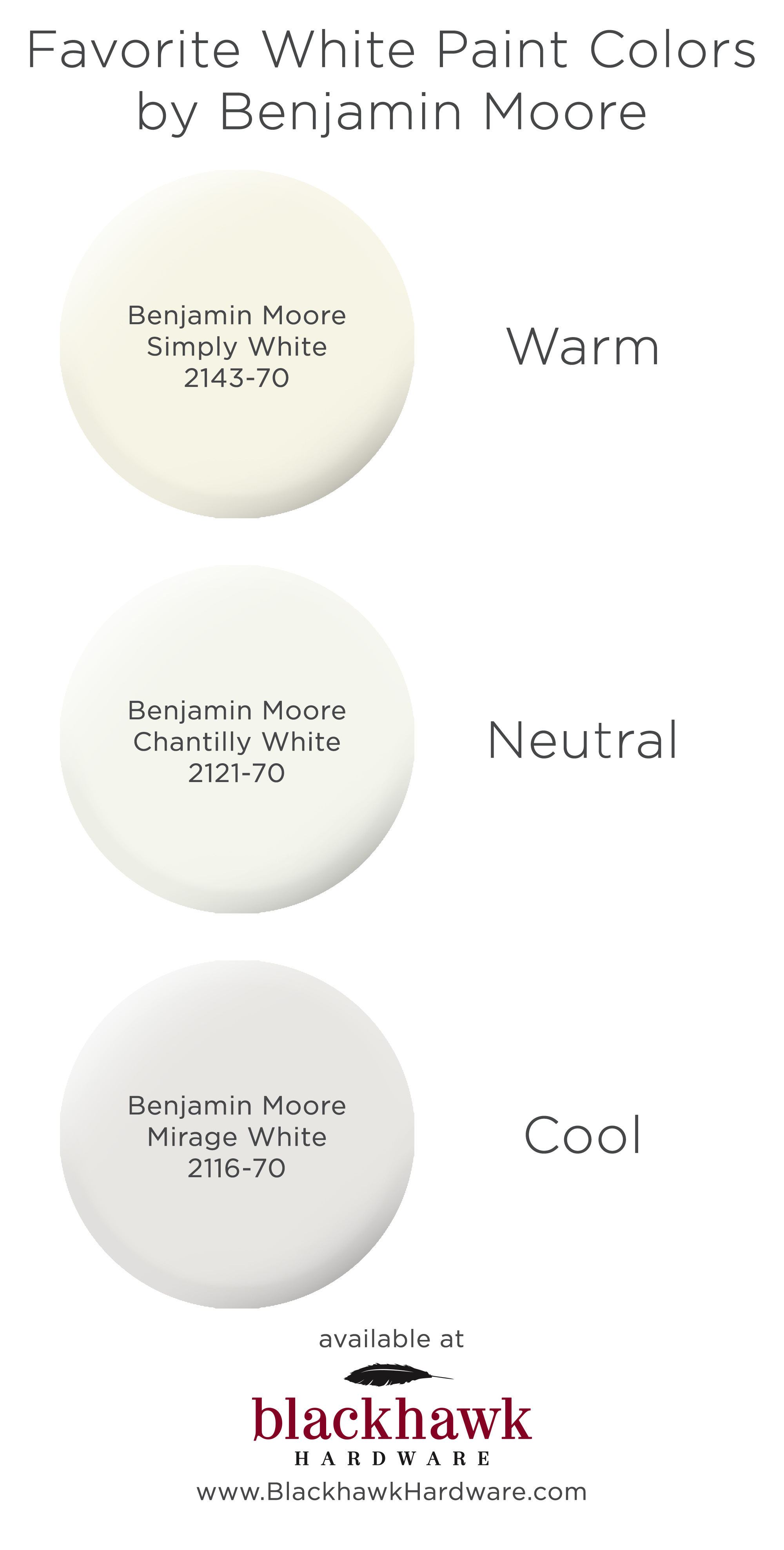 The Best Warm Neutral And Cool White Paint Colors By Benjamin Moore