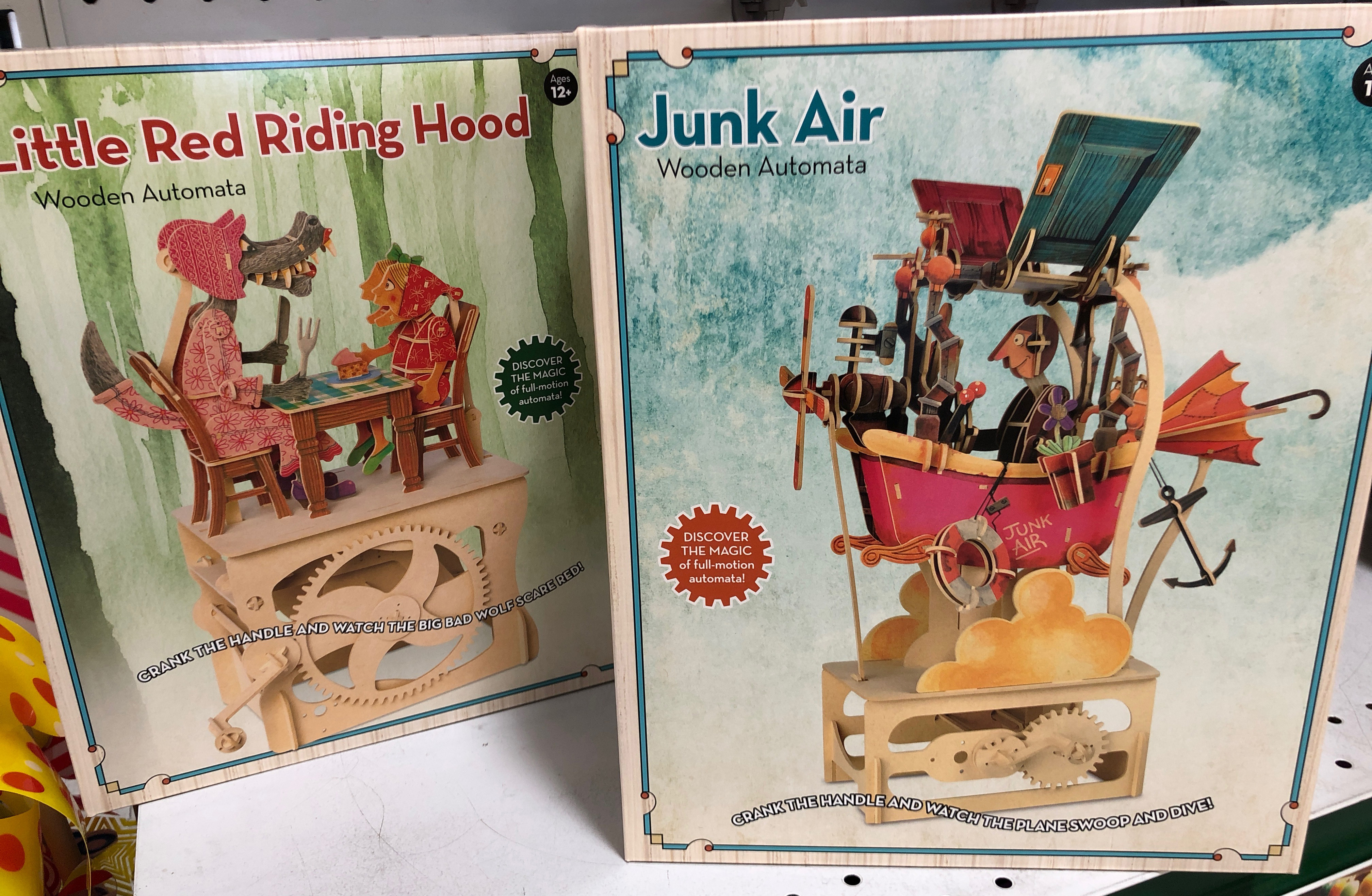 Step back in time with these whimsical automata kits
