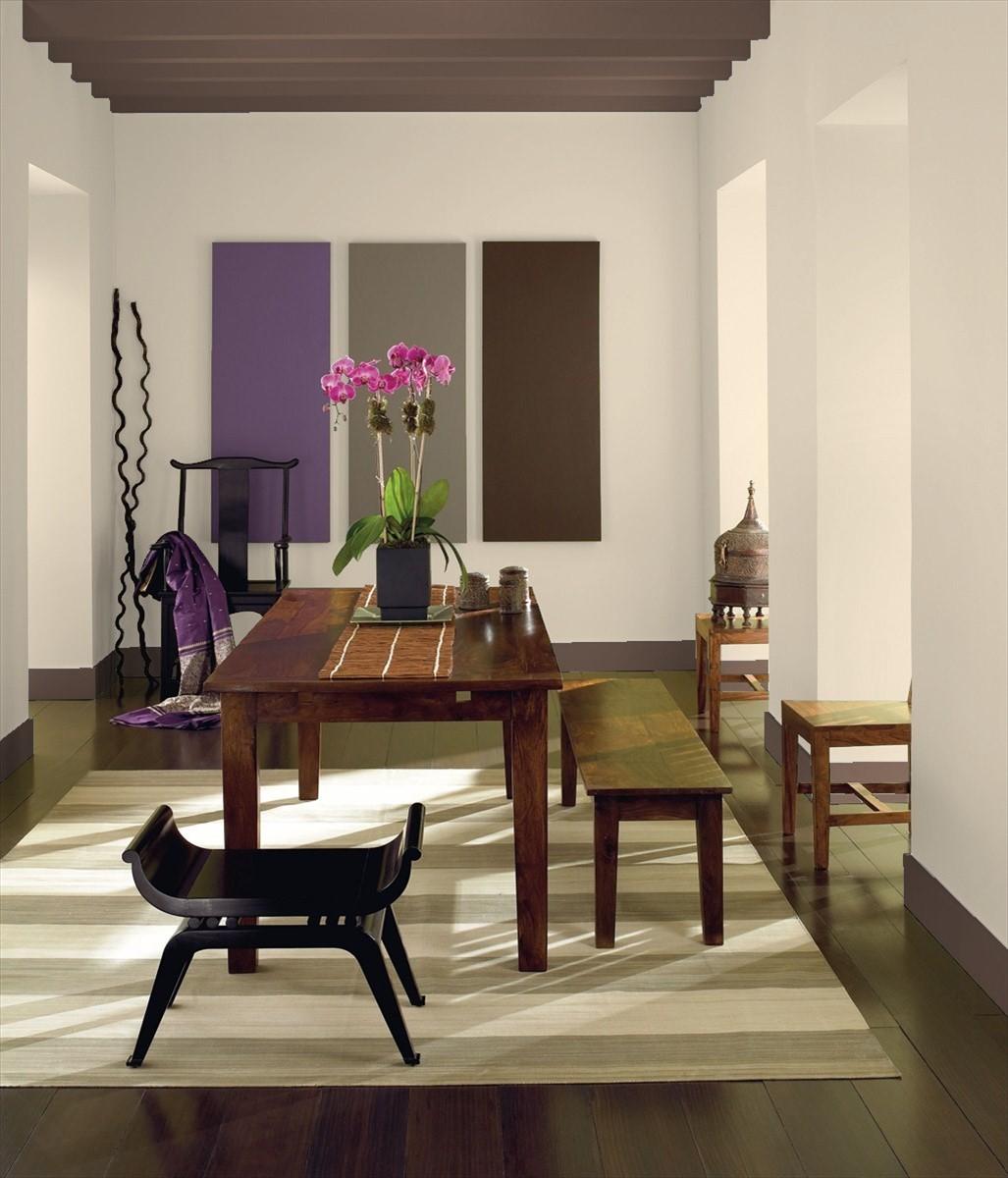Dining Room painted in Benjamin Moore's Muslin